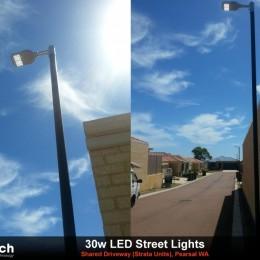 30w LED Streetlight install