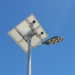 Solar LED street lights for new housing estate