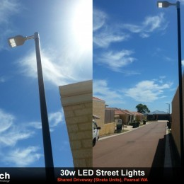 30w LED Streetlight install