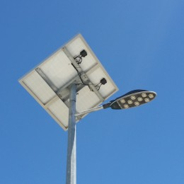 Solar LED street lights for new housing estate