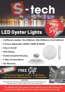 LED Oyster light promo